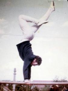 Daniel Lefrançois aux barres parallèles - 1969