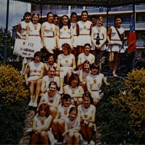 L'équipe Gassendiana de gym en 1971