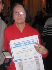 2009 : Médaille d'Argent CDOS - Dominique Lefrançois